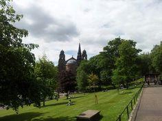 Princes Street Gardens, Edinburgh. A good spot for a picnic in the heart of the city.
