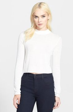 This sweater would be cute with my black leather skirt  http://shop.nordstrom.com/s/trouve-crop-sweater/3757066?origin=category-personalizedsort