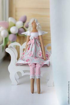 Куклы Тильды ручной работы. Ярмарка Мастеров - ручная работа. Купить Цветочный ангел.. Handmade. Разноцветный, детская, интерьерная кукла