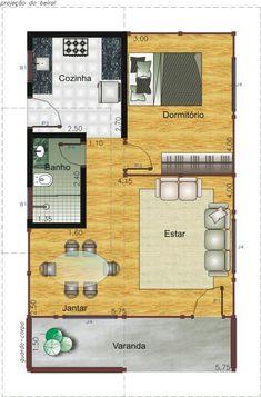 Casa de 2 dormitorio com varanda