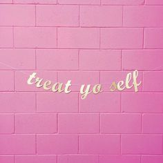 Treat Yo Self Banner/ Hen Party/ Birthday/ Bride Tribe/ Garland/ Ron Swanson/ Parks And Rec/ Bridal Shower Decor/ Bachelorette Party Body Shop At Home, The Body Shop, Tanning Quotes, Insta Posts, Instagram Posts, Instagram Feed, Lash Quotes, Shopping Quotes, Birthday Quotes