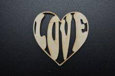 Szív vágott 'LOVE' 5db/csomag, 6 cm magas, 6 cm széles Buick Logo