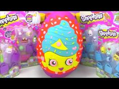 Giant Shopkins Surprise Egg Limited Edition Cupcake Queen Play Doh Egg - YouTube