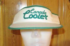 CANADA COOLER Wine Drink Vintage 80s Original Promo Visor Hat at HatsForward