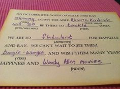 Best RSVP card ever. Could you imagine the replies you would get from your friends..