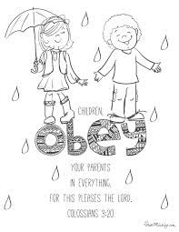 Image Result For Obey God Coloring Page Bible Coloring Pages