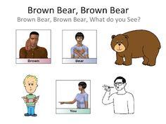 Brown Bear Brown Bear wrapping up! Teaching Baby Sign Language, Teaching Babies, Sign Language Alphabet, Learn Sign Language, American Sign Language, Speech And Language, Preschool Books, Preschool Curriculum, Preschool Classroom