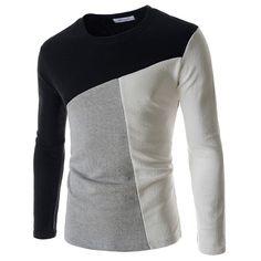 Camiseta Inglesa de de Lã Inverno Masculino Manga Longa Frio e3e806e160aa3