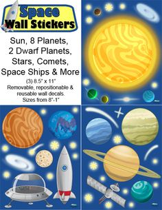 Create-A-Mural - Space Wall Stickers, $21.99 (http://www.create-a-mural.com/space-wall-stickers/)