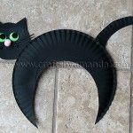 Paper Plate Black Cat