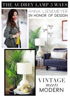 5 Chic Ways To Style Lulu & Georgia's Audrey Lamp | theglitterguide.com