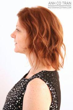 LA: AN ADORABLE TRANSFORMATION AT RAMIREZ TRAN SALON. Cut/Style: Anh Co Tran. #beauty #hair #besthair #redhead #model #anhcotran #ramireztransalon