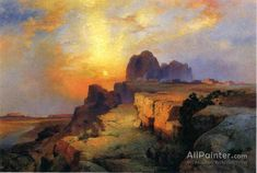 Thomas Moran Hopi Museum, Arizona hand painted oil painting reproduction on canvas by artist Oil Painting Gallery, Oil Painting On Canvas, Cool Paintings, Landscape Paintings, Landscapes, Thomas Moran, Paint And Sip, Oil Painting Reproductions, Western Art