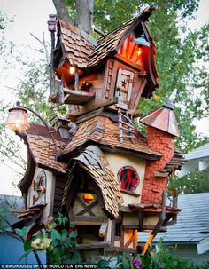 Across the world some people have spent a fortune on these extraordinary homes for birds. Pictured: A birdhouse in Denver, Colorado