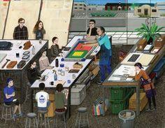 韓國插畫家 Paige Jiyoung Moon 作品對生活的記錄 » ㄇㄞˋ點子
