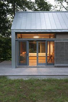David Mansfield / Connecticut Barn - use sliding barn door idea for gate and side garage door