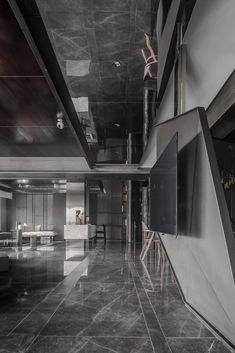 Modern Bedroom Design, Luxury Interior Design, Interior Exterior, Contemporary Interior, Interior Architecture, Dark Floor Living Room, Living Room Tv Unit, Living Room Interior, Floor Design