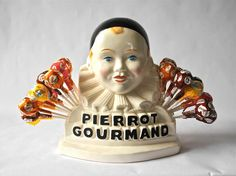 French vintage PIERROT for lollipops by myfrenchycottage on Etsy, $130.00