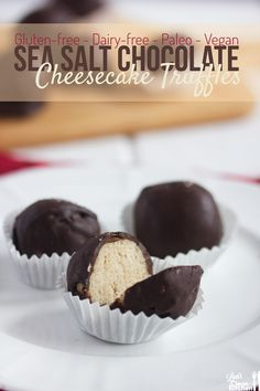 Sea Salt Chocolate Cheesecake Truffles {gluten-free, dairy-free, vegan, and paleo}