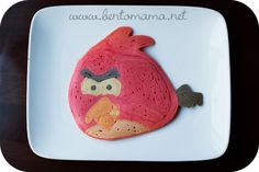 Angry Birds pancake- Solomon would just die if I served him this!