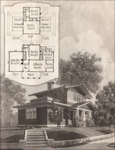 Airplane bungalow from Antique Home Style