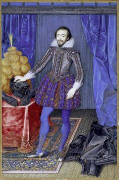 Isaac Oliver, Portrait miniature of Richard Sackville, Earl of Dorset, 1616 (source). Renaissance, Elisabeth I, Hans Holbein The Younger, Anne Of Cleves, Courtier, Miniature Portraits, Adele, Victoria And Albert Museum, Historical Costume