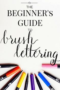 The Beginner's Guide to Brush Lettering: Part I. This post details the how to use and brush pen and the basic strokes that you can practice to get yourself comfortable with brush lettering. Learn a new and interesting way of writing with this simple tutorial!