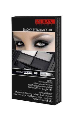 Kit de Pupa para el efecto smoky eyes. Viene en negro y violeta. Ojos en primer plano!