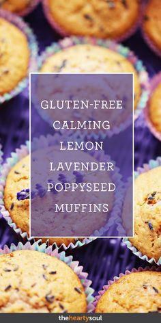 Ready for a delightful treat? These lemon lavender poppyseed muffins will be snapped out fast at any get together! Muffin Recipes, Baking Recipes, Dessert Recipes, Desserts, Gf Recipes, Recipies, Cooking Icon, Fun Cooking, Cooking Cake
