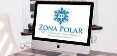 Diseño de logotipo para Zona Polar, empresa de venta, instalación y mantenimiento de aires acondicionados.