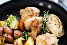One Pan Rosemary Chicken and Potatoes