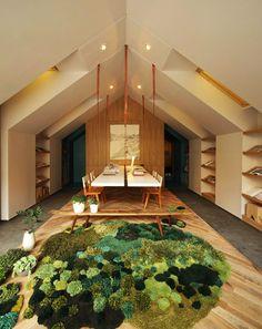 Forest carpet landscape design Interior