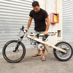 ⚡🚀This guy is 100 percent concentrated on prototype making , and a full speed addict. Photo by our Italian Greyborg and Cromotor… Velo Design, Bicycle Design, Wood Bike, Motorised Bike, Scooters For Sale, Motorized Bicycle, Cargo Bike, Electric Bicycle, Bike Frame