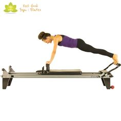 control front pilates reformer exercise 2