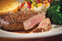 Classic Sirloin: 100% USDA Choice sirloin topped with seasoned butter. Served with steamed broccoli and loaded mashed potatoes. #Chilis