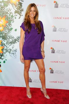 Kelly Bensimon Is Bold in Brights at the FiFi Awards Kelly Bensimon, Purple Mini Dresses, Celebs, Celebrities, Her Style, Awards, Hair Makeup, Nyc Housewives, Shirt Dress