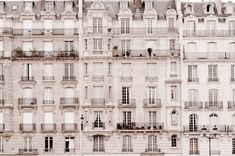 Paris Photo - Windows, Classic Black and White Photograph, Urban Home Decor, Wall Art, French Architecture. $25.00, via Etsy.