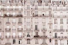 Paris Photo - Windows, Classic Black and White Photograph, Urban Home Decor, Wall Art, French Architecture, via Etsy.