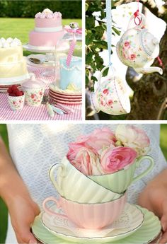 Greengate DK Spring/Summer 2015, loving those cups and plates in the lower picture! <3