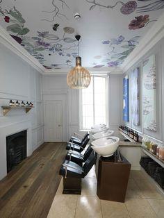 Emma Lofstrom Illustrates Ena Salon Ceiling