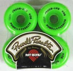 Rodas Skate Powell Peralta Rat Bones 60mm 90a Oldschool - R$ 149,90 no MercadoLivre