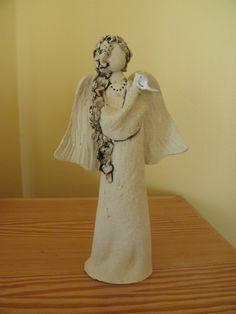 Anděl Anděl v přírodním stylu. Výška 27 cm.  Loved the way that the hair was created on this inspiring angel