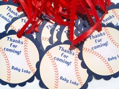 Baseball Baby Shower Favor Tags