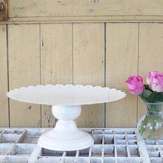 cream vintage style metal cake stand by lilac coast | notonthehighstreet.com