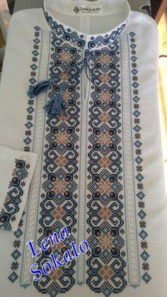 Cross Stitch Borders, Cross Stitch Designs, White Tops, Cross Stitch Embroidery, Embroidery Designs, Bohemian Rug, Crochet, Pattern, Handmade