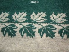 Some brilliant repeating knitting motifs on this page (Maple leaf) Owl Knitting Pattern, Intarsia Patterns, Fair Isle Knitting Patterns, Knitting Machine Patterns, Knitting Charts, Knitting Stitches, Knitting Designs, Knitting Projects, Baby Knitting