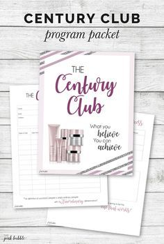 Mary Kay Century Club Program! Find it only at www.thepinkbubble.co!