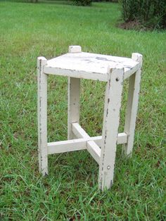 Vintage Wood Chippy Primitive Occassional Square by AlloftheAbove, $50.00