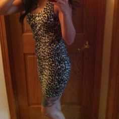 Casual Dress New, never been worn. Cheetah dress, zipper in the back Forever 21 Dresses