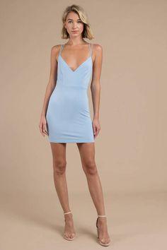 Break Up Every Night Light Blue Bodycon Dress Light Blue Bodycon Dress, Tight Blue Dress, Tight Dresses, Sexy Dresses, Cute Dresses, Short Dresses, Bandage Dresses, Blond, Blue Homecoming Dresses